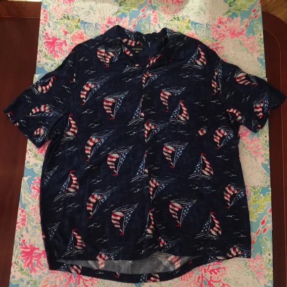 97df1f7f04b George Other - George Blue Flag Sailing Hawaiian Shirt XXL